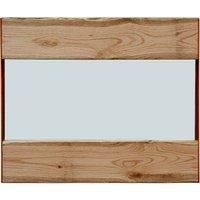 Oak And Iron Wall Mirror, White/Black/Grey