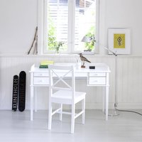 White Scandanavian Desk Or Dressing Table