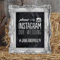 Personalised 'Instagram Wedding' Printable