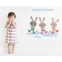 Splish Splash Splosh Fabric Wall Stickers