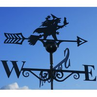Witch And Cat Steel Weathervane Made In Britain
