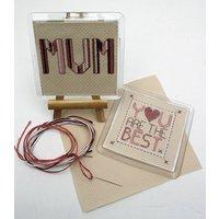 The Best Mum Or Dad, Coaster Cross Stitch Kit