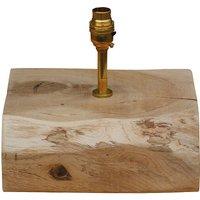 Oak And Iron Ten Inch Beam Shaped Lamp