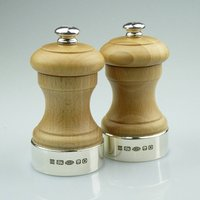 Silver And Beech Peugeot Peppermill
