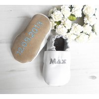 Personalised Christening Shoes, Cream/White/Light Pink