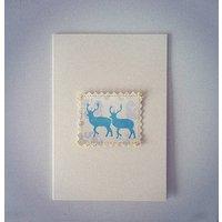 Deer And Damask Card
