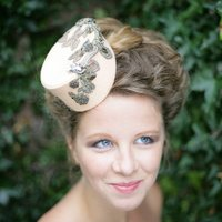 Felt Hat With Antique Lace And Embelishments