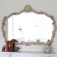 Renaissance Ivory Overmantel Mirror