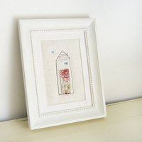 Embroidered 'Home' Picture