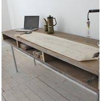 Ellie Reclaimed Wood Desk With Steel Legs