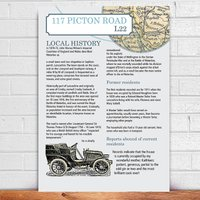 Personalised House History And Map Print