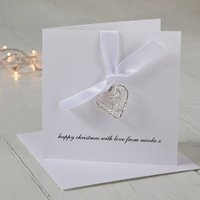 Personalised Wire Heart Christmas Card