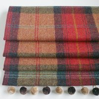 Red Tweed Roman Blind, Red/Cream/Brown