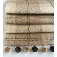 Natural Tweed Roman Blind