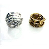 Silver Or Gold Coiled Ring, Silver