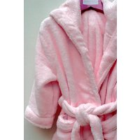 Girl's Pale Pink Dressing Gown, Pink/White