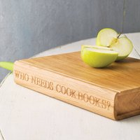 Personalised Wooden Book Chopping Board