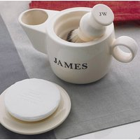 Personalised Shaving Scuttle, Soap And Soap Dish