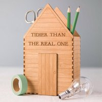 Personalised Garden Shed Desk Tidy Gift For Him