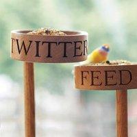 Solid Oak Bird Feeder