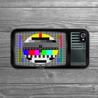 Retro Tv iPhone Case, Black/White