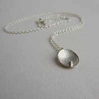 Silver And Diamond Little Leaf Necklace, Silver