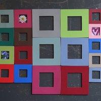 Magnetic Frame Leather Magniframe, Green/Aqua/Light Blue