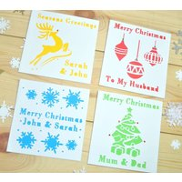 Pack Of Four Laser Cut Christmas Cards