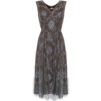 Special Occasion Lace Dress In Winter Blue, Blue