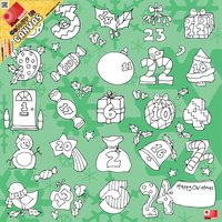 Colour In Advent Canvas