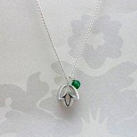 Silver Triple Bud Pearl Pendant, Silver