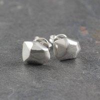 Nugget Sterling Silver Stud Earrings, Silver