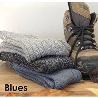Three Personalised Walking, Hiking Socks, Pink/Red/Light Blue