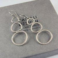 Rock Pools Silver Earrings, Silver