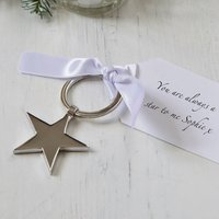 Valentine's Day Star Keyring And Personalised Tag