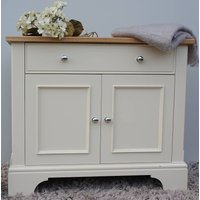 Baslow Sideboard In A Choice Of Colours And Sizes, Lime/White/Grey