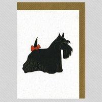 Illustrated Scottie Blank Card