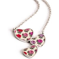 Rose Heart Drop Chain Necklace