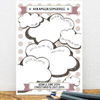 Personalised Christening Card Guest Book