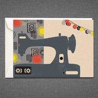 Sewing Machine Greetings Card