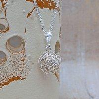 Sterling Silver Birds Nest Necklace, Silver