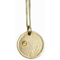 Personnalised 9ct Solid Gold Medal With Gemstone, Gold