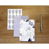 Monochrome Leaf Set Of Three Notebooks