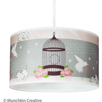 Bird Cage Vintage Lampshade, Pink/Red