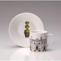 Street Scene Espresso Cup And Saucer