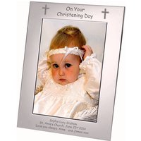 Personalised Silver Plate Christening Frame