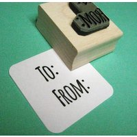 To From Rubber Stamp