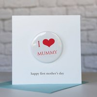 Personalised Mother's Day Card With Badge