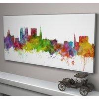 York England Skyline Cityscape, White
