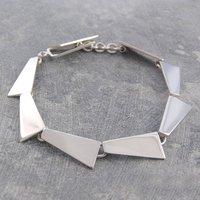 Geometric Sterling Silver Bracelet, Silver
